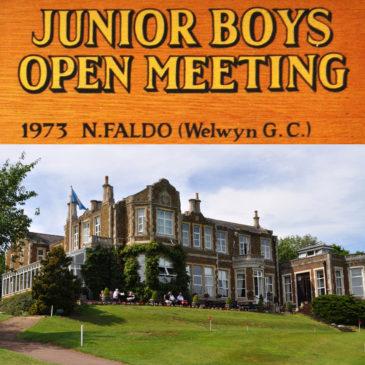 John O'Gaunt Golf Club – Junior Open