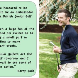 Harry Judd becomes British Junior Golf Tour Ambassador