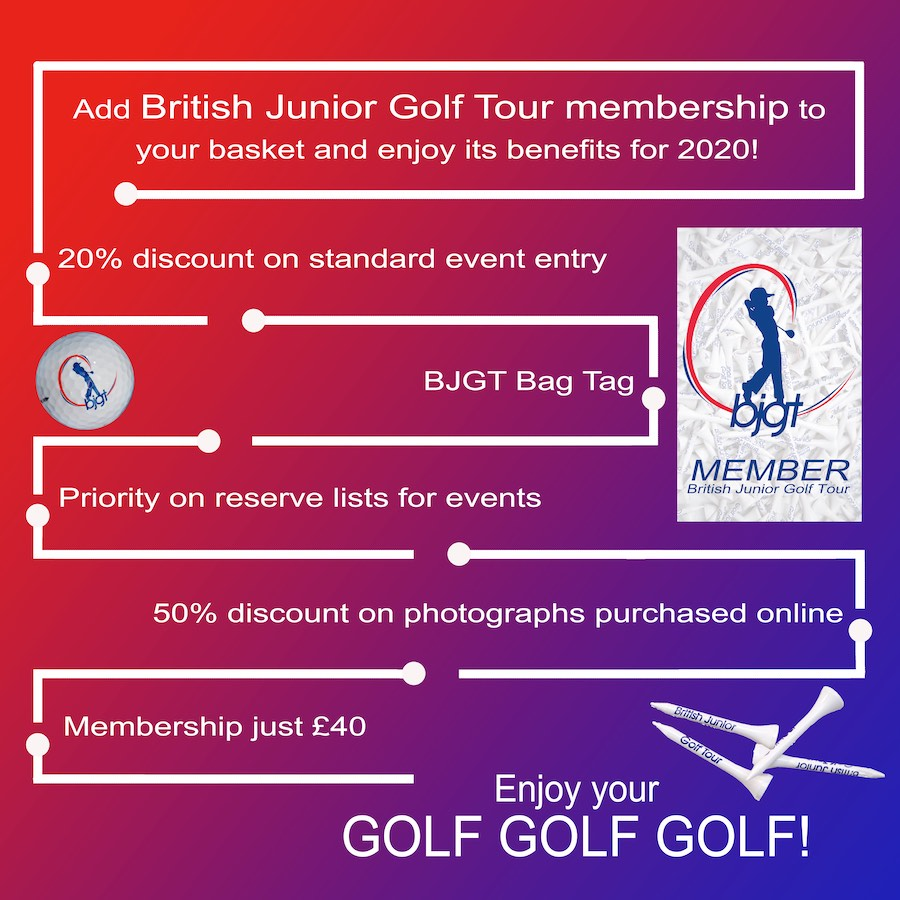 The benifits of British Junior Golf Tour Membership